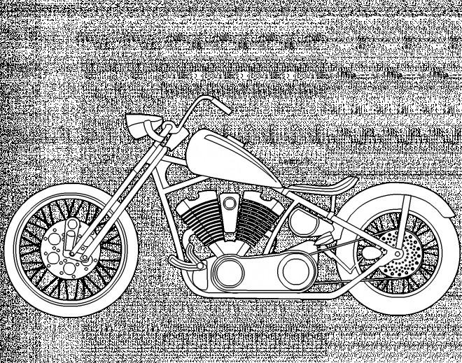 Coloriage et dessins gratuits Motocyclette 32 à imprimer