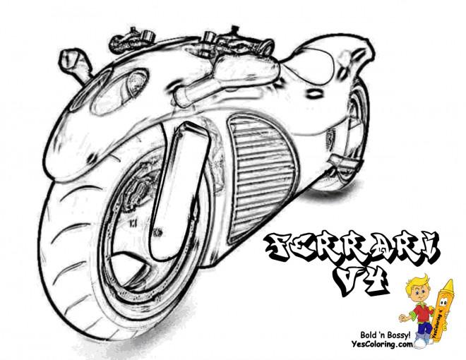 Coloriage et dessins gratuits Motocyclette 34 à imprimer