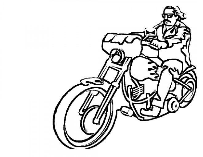 Coloriage et dessins gratuits Motocyclette 35 à imprimer