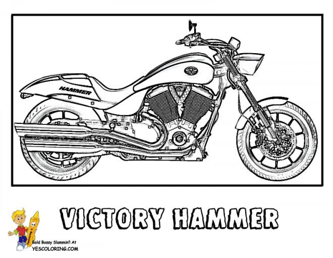 Coloriage et dessins gratuits Motocyclette 37 à imprimer