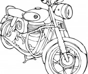 Coloriage Motocyclette 4