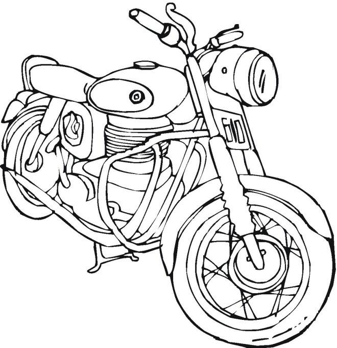 Coloriage et dessins gratuits Motocyclette 4 à imprimer