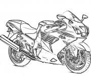 Coloriage Motocyclette 5