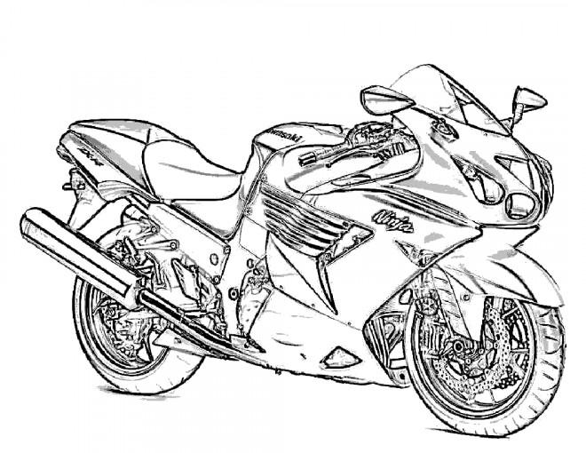 Coloriage et dessins gratuits Motocyclette 5 à imprimer
