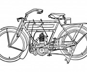Coloriage Motocyclette 7