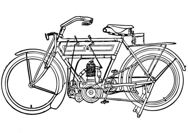 Coloriage et dessins gratuits Motocyclette 7 à imprimer