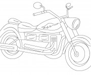 Coloriage Motocyclette 8