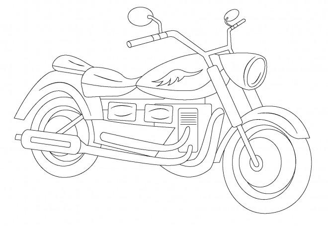 Coloriage et dessins gratuits Motocyclette 8 à imprimer