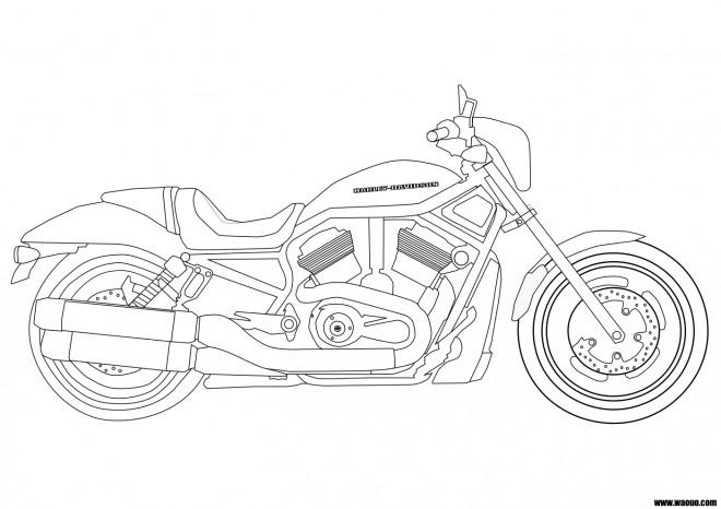 Coloriage et dessins gratuits Motocyclette 9 à imprimer