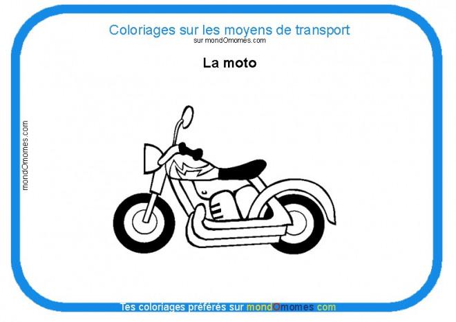 Coloriage et dessins gratuits La Moto et Les Moyens de transport à imprimer