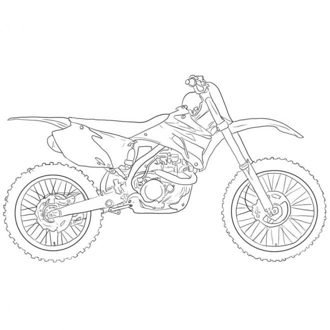 Coloriage et dessins gratuits Moto Cross 125 pour enfant à imprimer
