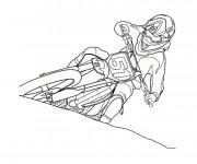 Coloriage et dessins gratuit Moto Cross à imprimer