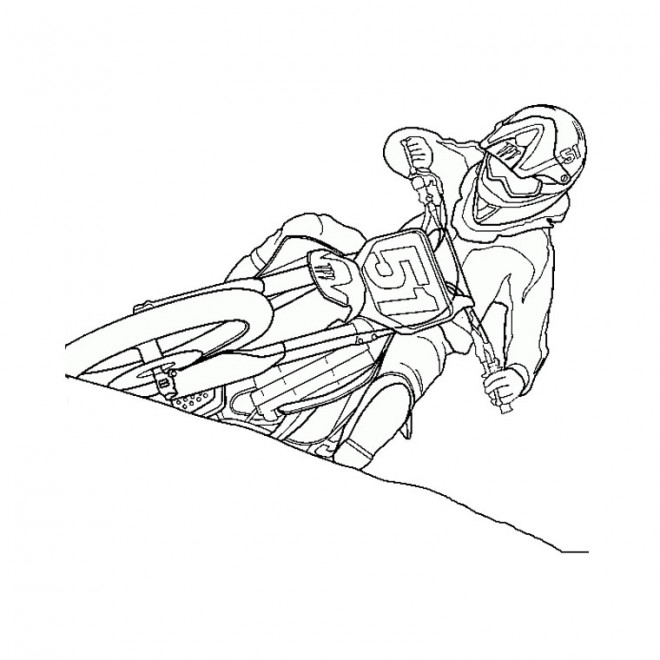 Coloriage moto cross dessin gratuit imprimer - Dessin de moto cross ...