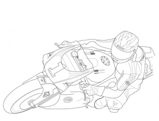 Coloriage moto de course en couleur dessin gratuit imprimer - Dessins de moto a colorier et imprimer ...