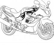 Coloriage et dessins gratuit Moto de course Suzuki à imprimer