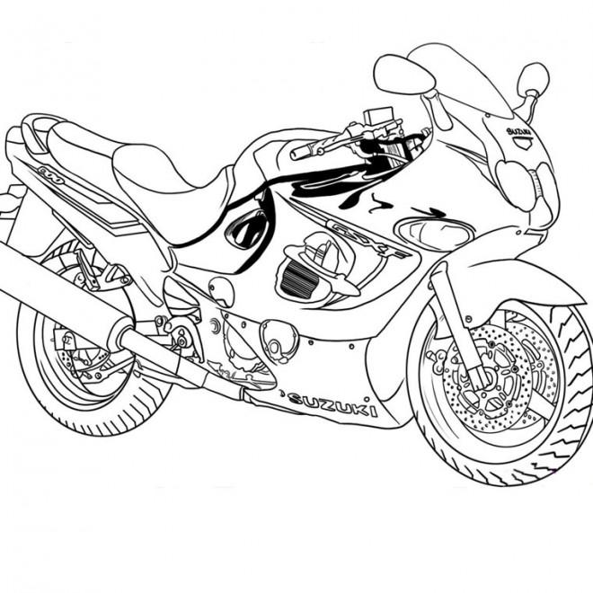 Coloriage moto de course suzuki dessin gratuit imprimer - Dessins de moto a colorier et imprimer ...