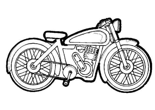 Coloriage et dessins gratuits Moto de course vectoriel à imprimer