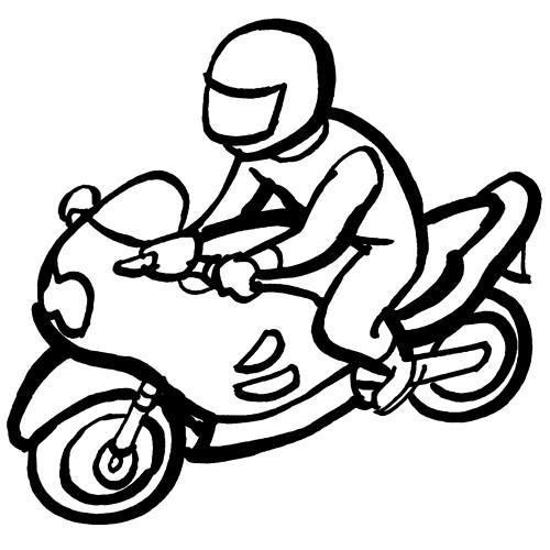Coloriage et dessins gratuits Moto en vecteur à imprimer