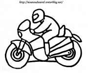 Coloriage Moto facile