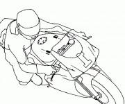 Coloriage Moto GP avec pilot