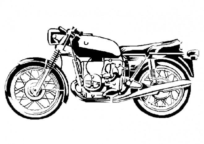 Coloriage et dessins gratuits Moto harley classique à imprimer