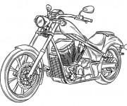 Coloriage et dessins gratuit Moto Honda pour adulte à imprimer