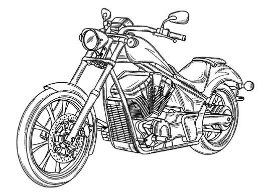 coloriage moto honda pour adulte dessin gratuit  u00e0 imprimer