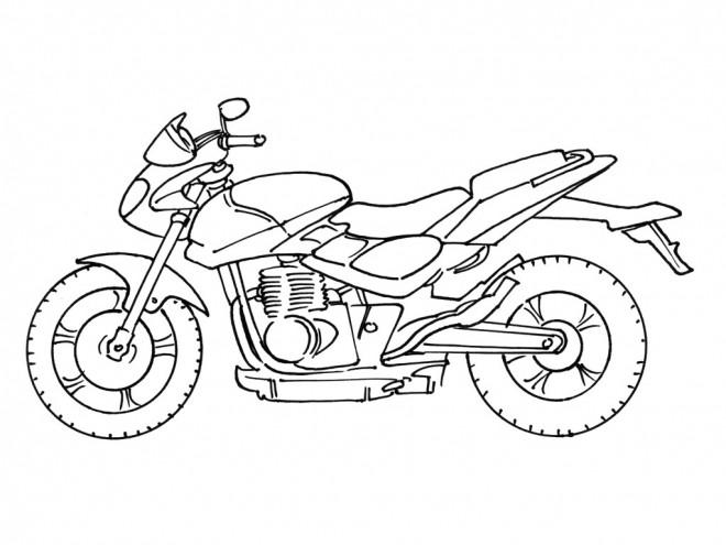 Coloriage et dessins gratuits Moto Moyen de Transport à imprimer
