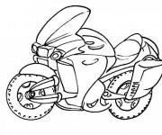 Coloriage et dessins gratuit Moto Police à imprimer