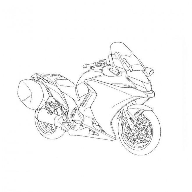 Coloriage et dessins gratuits Moto puissante à imprimer