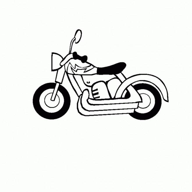 Coloriage et dessins gratuits Moto simple pour enfant à imprimer