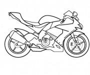 Coloriage et dessins gratuit Moto Suzuki à imprimer