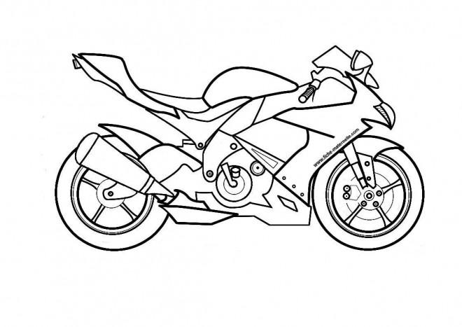 Coloriage et dessins gratuits Moto Suzuki à imprimer