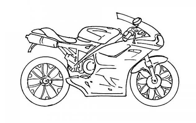 Coloriage et dessins gratuits Moto Yamaha maternelle à imprimer