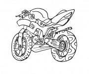 Coloriage Motocross 23