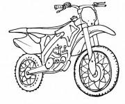 Coloriage et dessins gratuit Motocross à colorier à imprimer