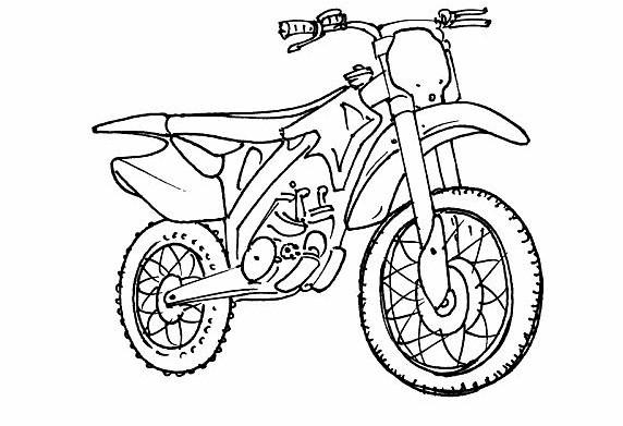 Coloriage et dessins gratuits Motocross à colorier à imprimer
