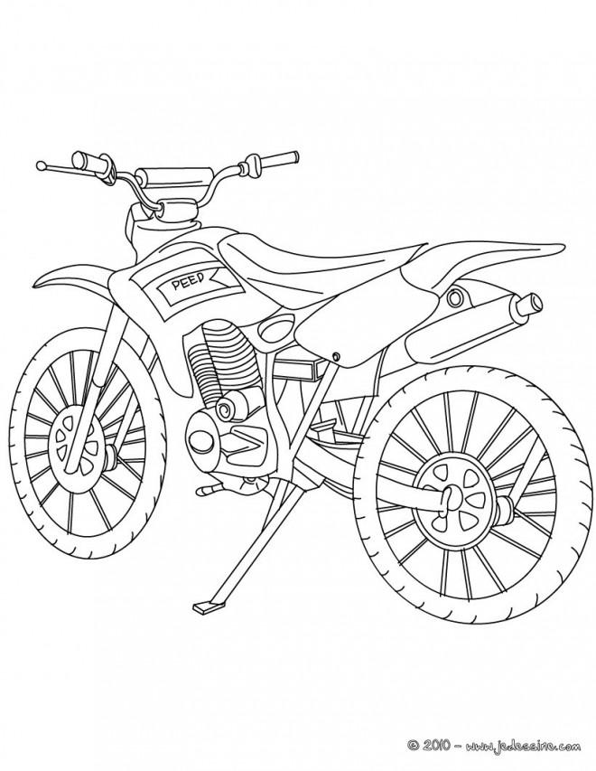 coloriage motocross  u00e0 d u00e9corer dessin gratuit  u00e0 imprimer