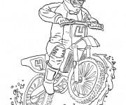 Coloriage et dessins gratuit Motocross couleur à imprimer