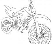 Coloriage et dessins gratuit Motocross de course à imprimer