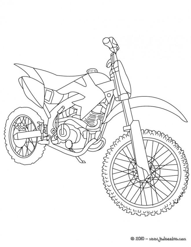Coloriage motocross de course dessin gratuit imprimer - Dessins de moto a colorier et imprimer ...