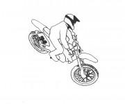 Coloriage et dessins gratuit Motocross Freestyle à imprimer