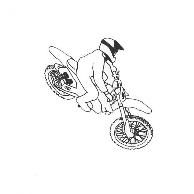Coloriage et dessins gratuits Motocross Freestyle à imprimer