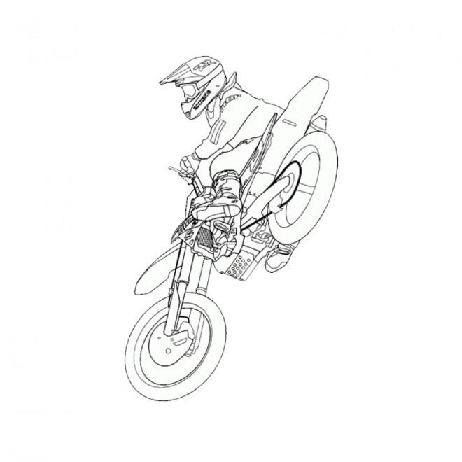 Coloriage Motocross KTM dessin gratuit à imprimer