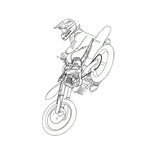 Coloriage et dessins gratuits Motocross KTM dans les airs à imprimer