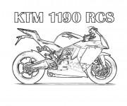 Coloriage et dessins gratuit Motocross Ktm RC8 à imprimer
