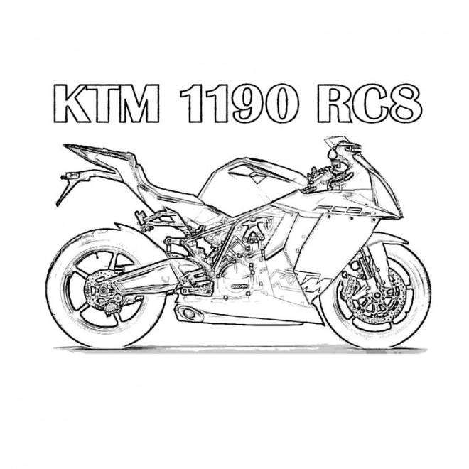 Coloriage et dessins gratuits Motocross Ktm RC8 à imprimer