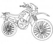 Coloriage et dessins gratuit Motocross stylisé à imprimer