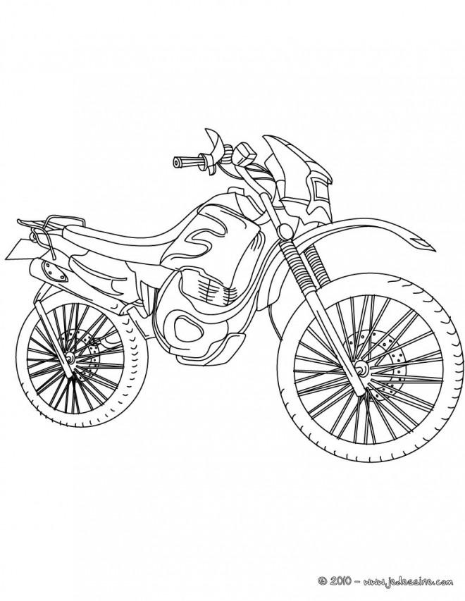 Coloriage et dessins gratuits Motocross stylisé à imprimer