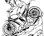 Coloriage et dessins gratuit Motocross Yamaha à imprimer